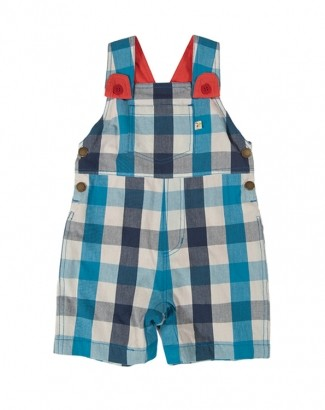 Peto Check Dungarees Harbour Blue Check