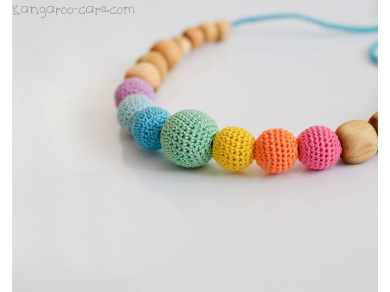 Collar de porteo y lactancia Aqua Simple Rainbow
